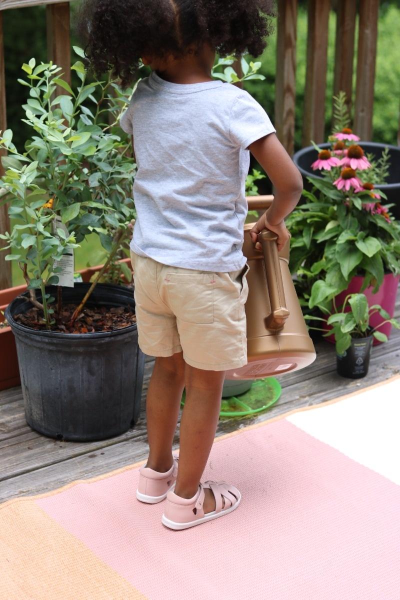 Girl Bobux tropicana sandal seashell